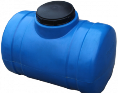 Бочка 100 литров пластиковая горизонтальная