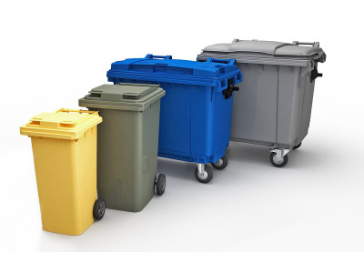 Мусорные пластиковые контейнеры (баки) от 120л - 1100л